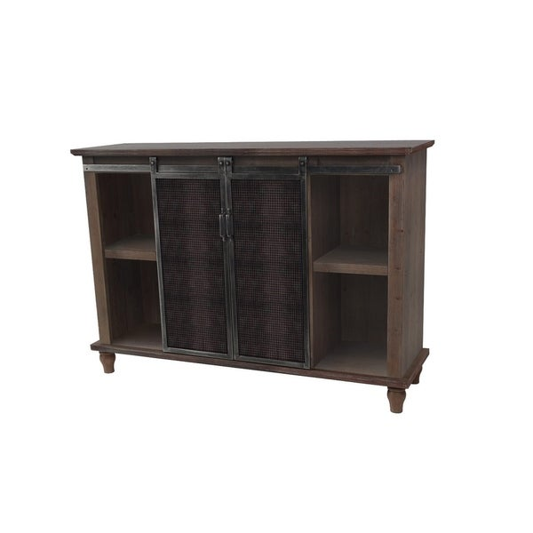 Shop Holland Grace 2 Door Slider Cabinet With Mesh Metal Doors