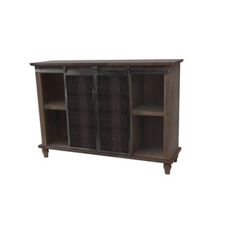 2 Door Slider Cabinet with Mesh Metal Doors