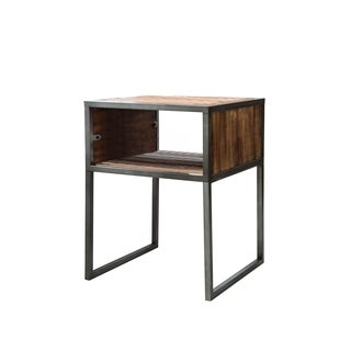 "Essex Natural Wood and Metal 18"" End Table"