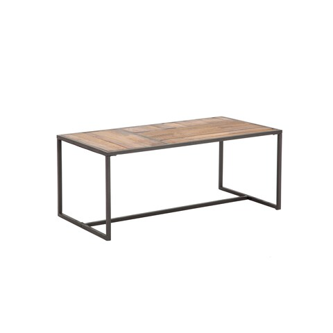 Paxton Natural Black Wood Metal 44-inch Cocktail Table