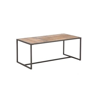 """Paxton Wood and Metal 44"""" Cocktail Table"""