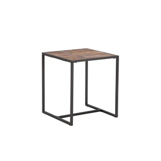 Paxton Black Wood Metal 20-inch End Table