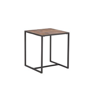"""Paxton Wood and Metal 20"""" End Table"""
