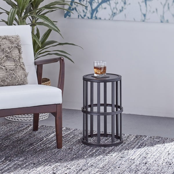 Aaleah Industrial 11-inch Side Table by Christopher Knight Home