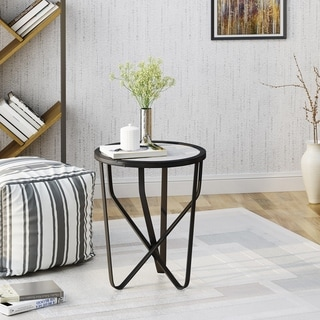 Dahlia Modern 18-inch Ceramic Tile Side Table by Christopher Knight Home