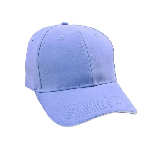 Sandwich Bill Brushed Cotton Twill Cap - Carolina Blue/White