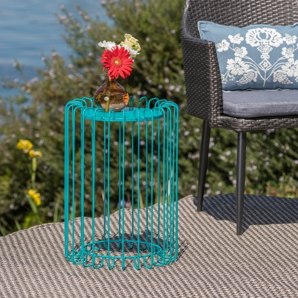 Pinyon Outdoor 22-inch Side Table by Christopher Knight Home