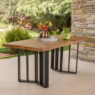 Shop Verona Outdoor Rectangle Light-Weight Concrete Dining Table by ...