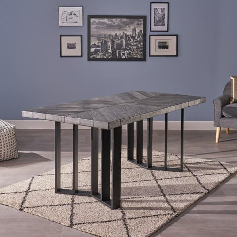 Francesca Farmhouse Rectangle Light-Weight Concrete Picnic Dining Table by Christopher Knight Home