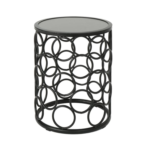 Elm Outdoor 16-inch Ceramic Tile Side Table by Christopher Knight ...