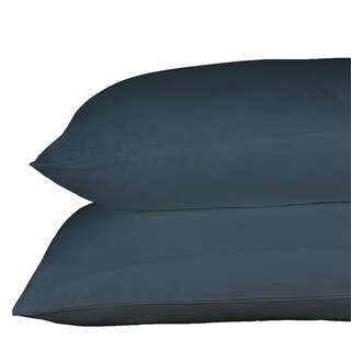Just Linen 250 Thread Count 100% Cotton Sateen, Pack Of 4 Solid Queen Pillow Cases