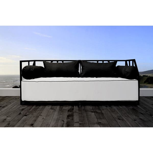 Super Shop Solis Nidum Indoor Outdoor Black Patio Daybed Sofa Wht Ncnpc Chair Design For Home Ncnpcorg