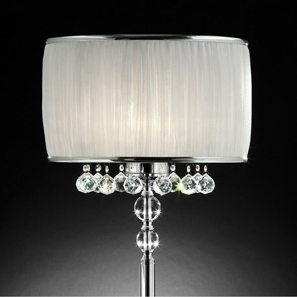 Chloe Traditional Style Table Lamp, White