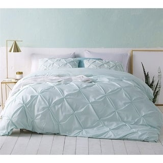 BYB Hint of Mint Pin Tuck Duvet Cover