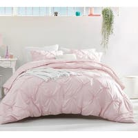 BYB Rose Quartz Pin Tuck Duvet Cover