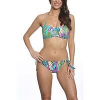 Pixie Pier Bandeau with Side Tie Bottom Bikini Set