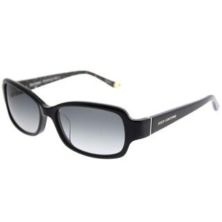 Juicy Couture Rectangle 555/F/S 807 Y7 Women Black Floral Frame Grey Gradient Lens Sunglasses