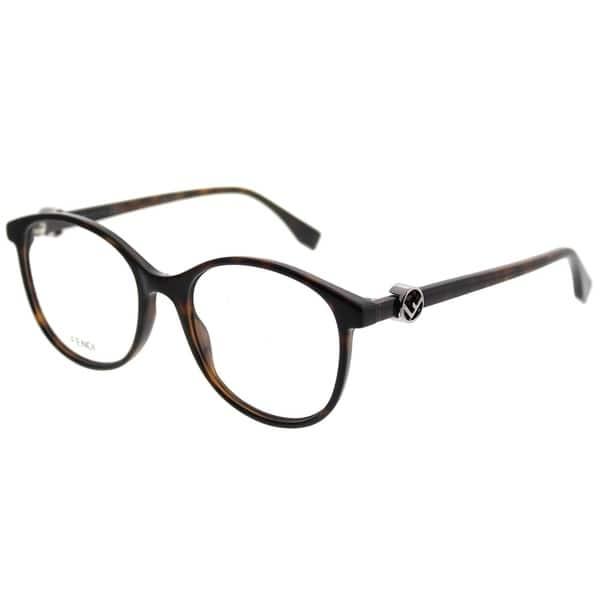 83bbdd8dfa Fendi Round FF 0299 F Is Fendi 086 Women Dark Havana Frame Eyeglasses