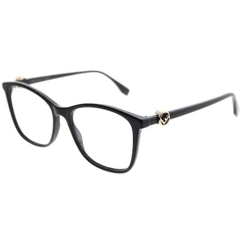 Fendi Square FF 0300 F Is Fendi 807 Women Black Frame Eyeglasses