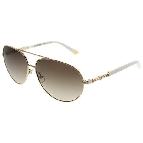 Juicy Couture Aviator 582/S J7F CC Women Gold Ivory Frame Brown Gradient Lens Sunglasses