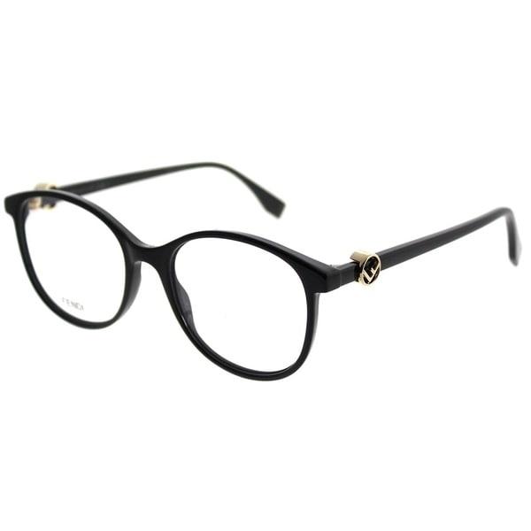 2c2d4ffe4cf9 Shop Fendi Round FF 0299 F Is Fendi 807 Women Black Frame Eyeglasses ...