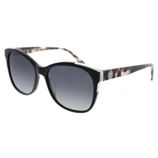 Juicy Couture Square 593/S 807 9O Women Black Frame Dark Grey Gradient Lens Sunglasses