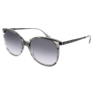 Juicy Couture Square 590/S 7C5 9O Women Black Crystal Frame Dark Grey Gradient Lens Sunglasses