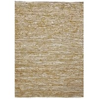 Tan and White Leather Rugs - 8' x 11'