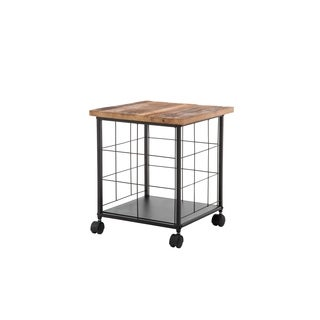 Clifton Wood and Metal Rolling File Cabinet