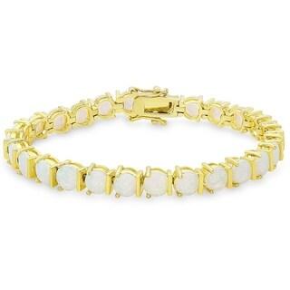 Dolce Giavonna Gold Overlay Opal Bracelet
