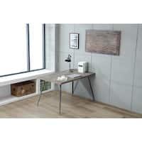 "Soho Urban Weathered Gray 40"" Reclaimed Solid Wood Wall Art"