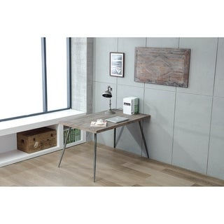 "Soho Urban Weathered Gray 40"" Reclaimed Solid Wood Wall Art"