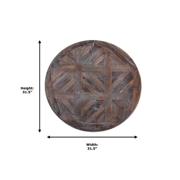 Shop Juno Urban Weathered Gray Round Reclaimed Solid Wood Wall Art