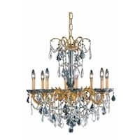 Fleur Illumination Collection Chandelier D:24in H:30in Lt:8 French Gold Finish