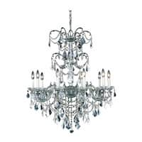 Fleur Illumination Collection Chandelier D:29in H:35in Lt:10 Pewter Finish
