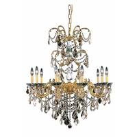 Fleur Illumination Collection Chandelier D:29in H:35in Lt:10 French Gold Finish