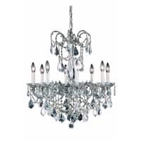 Fleur Illumination Collection Chandelier D:24in H:30in Lt:8 Pewter Finish