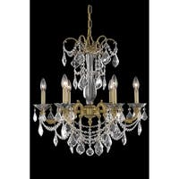 Fleur Illumination Collection Chandelier D:23in H:26in Lt:6 French Gold Finish