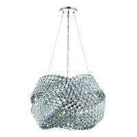 Fleur Illumination Collection Chandelier D:20in H:15in Lt:5 Chrome Finish - elegant cut crystals