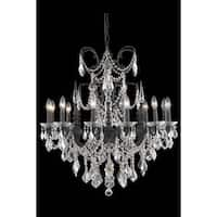 Fleur Illumination Collection Chandelier D:32in H:33in Lt:12 Dark Bronze Finish