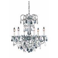 Fleur Illumination Collection Chandelier D:23in H:26in Lt:6 Pewter Finish
