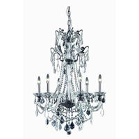 Fleur Illumination Collection Chandelier D:24in H:37in Lt:6 Dark Bronze Finish - Dark bronze/swarovski® elements crystals