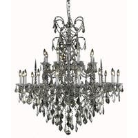 Fleur Illumination Collection Chandelier D:44in H:47in Lt:24 Pewter Finish