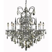 Fleur Illumination Collection Chandelier D:30in H:31in Lt:10 Pewter Finish