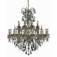 Fleur Illumination Collection Chandelier D:44in H:47in Lt:24 French Gold Finish