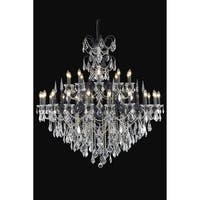 Fleur Illumination Collection Chandelier D:53in H:54in Lt:30 Dark Bronze Finish