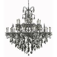 Fleur Illumination Collection Chandelier D:53in H:54in Lt:30 Pewter Finish