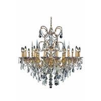 Fleur Illumination Collection Chandelier D:35in H:33in Lt:16 French Gold Finish