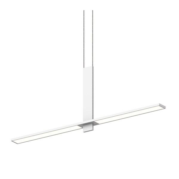 Sonneman Lighting Planes 2-light Satin White LED Intersecting Pendant, White Shade