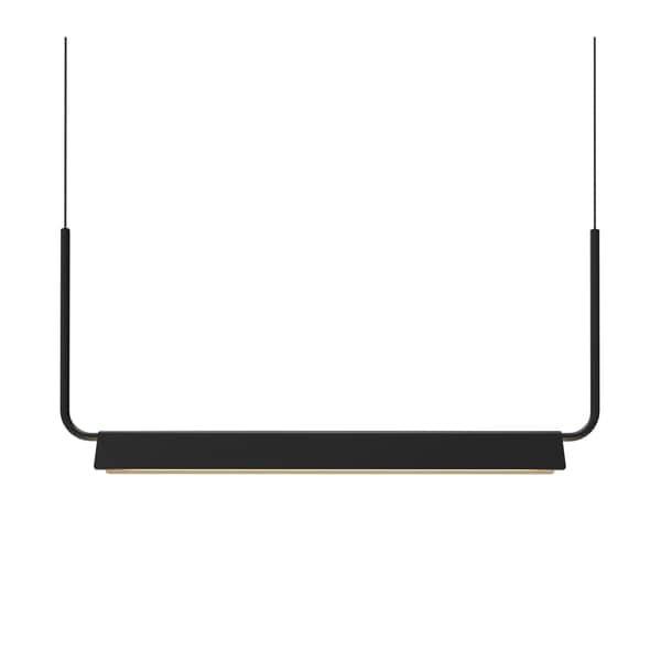 Sonneman Lighting Morii Satin Black 30-inch LED Pendant, Satin Black Shade
